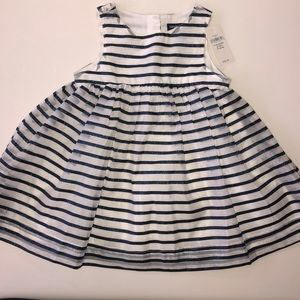New With Tags Baby Gap Blue &White Striped Dress